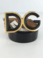 DG/ブランドロゴ/ハラコ/90cm/36inch/ベルト/レザー/BLK/メンズ