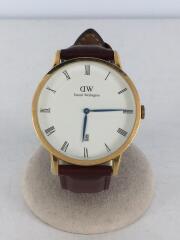 1100DW/Classic St Mawes/クォーツ腕時計/アナログ/レザー/WHT/BRW