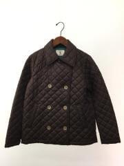 キルティングジャケット/M/ポリエステル/BRW/8604-38400