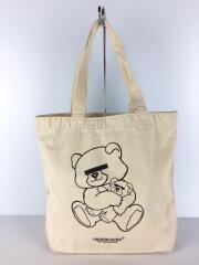 BEAR Mini Tote Bag/トートバッグ/キャンバス/WHT