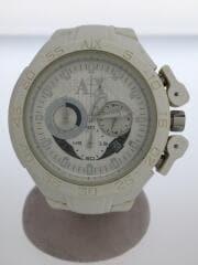 クォーツ腕時計/アナログ/WHT/AX1190/状態考慮
