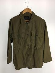 ファティーグシャツジャケット/38/コットン/カーキ/無地/3625-133-1179