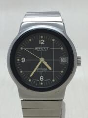 STUNT WATCH/クォーツ腕時計/アナログ/ステンレス/ホワイト/シルバー