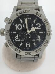 クォーツ腕時計/アナログ/ステンレス/ブラック/シルバー/THE 42-20 CHRONO