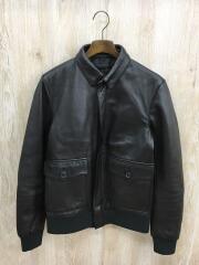 レザージャケット/38/羊革/ブラウン/WH66-17Y024