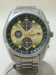 ソーラー腕時計/アナログ/ステンレス/グリーン/シルバー/TY01-C3-B