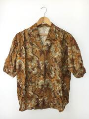 FASHION ROOM/半袖シャツ/オープンカラーシャツ/アロハシャツ/ブラウン/花柄
