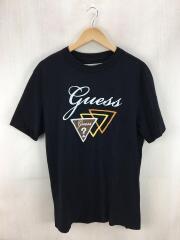 Tシャツ/S/コットン/ブラック/汚れ有