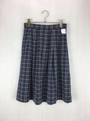 スカート/38/ポリエステル/ネイビー/チェック/H5S38-411-29