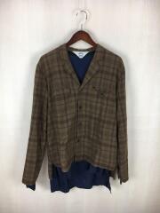 16AW/Sho-ken Shirt+Shadow/長袖シャツ/3/コットン/ブラウン/チェック