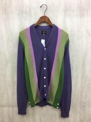 19ss/V neck cardigan/カーディガン(薄手)/S/コットン/PUP