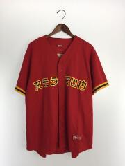19SS/Red Rum Baseball Jersey/半袖シャツ/XL/ポリエステル/レッド