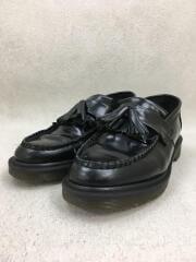 ADRIAN/タッセルローファー/UK4/ブラック/レザー