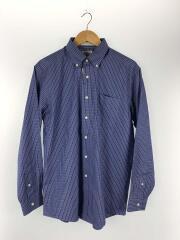 長袖シャツ/M/コットン/BLU/チェック/タグ付き/BDシャツ