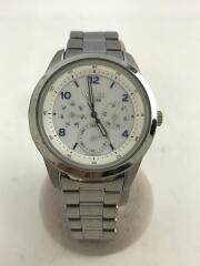 ソーラー腕時計/アナログ/ステンレス/WHT/SLV/V14J-0CL0