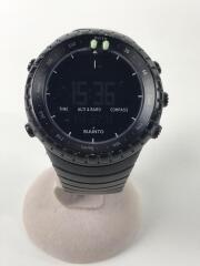 クォーツ腕時計/デジタル/ラバー/BLK/CORE ALL BLACK