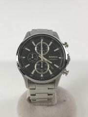 クォーツ腕時計/デジタル/ステンレス/BLK/SLV/vd57-knd0