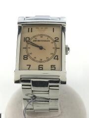 クォーツ腕時計/アナログ/BEG/SLV/