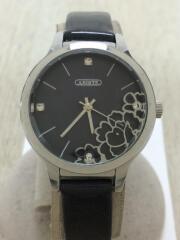 クォーツ腕時計/アナログ/エナメル/BLK/BLK