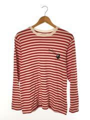 001LTG221910X/長袖Tシャツ/M/コットン/RED/ボーダー