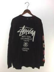 長袖Tシャツ/L/コットン/BLK