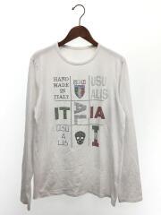 長袖Tシャツ/XL/コットン/WHT/スカル