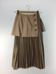 ロングスカート/34/ポリエステル/BEG