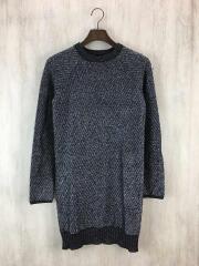 ロングニット/セーター(薄手)/S/ウール/ブラック