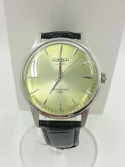 クォーツ腕時計/アナログ/レザー/GRN/BLK/SW-618M/ドレス