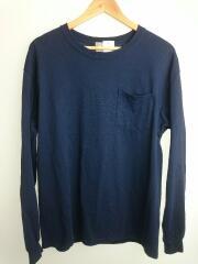 長袖Tシャツ/40/COME ON L/S TEE/バックプリント/ポケットTシャツ