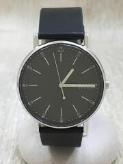 クォーツ腕時計/アナログ/レザー/SKW6654/SIGNATUR/2020