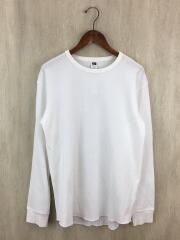 長袖Tシャツ/L/コットン/WHT/19-070-312-4015-3-0