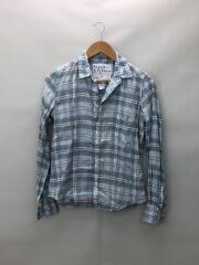 BARRY リネンチェックシャツ/XS/リネン/GRY/チェック/2910700064//長袖シャツ/