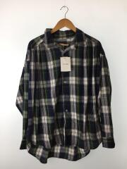 Painter Shirt Cotton Plaid/ペインターシャツ/M/コットン/NVY/チェック/開襟