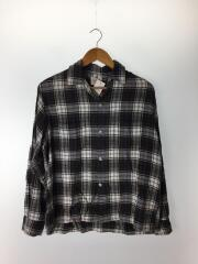 ブレント/BRENT/60s/長袖オープンカラーシャツ/M/--/GRN/チェック