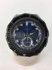 クォーツ腕時計/アナログ/ステンレス/BLU/SLV/vk63-k080