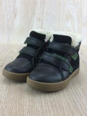 キッズ靴/15cm/スニーカー/レザー/BLK