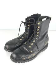 Gorilla Shoe/レースアップブーツ/US8/BLK/レザー