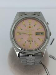 自動巻腕時計/アナログ/ステンレス/PNK/SLV/EM6Q-C0