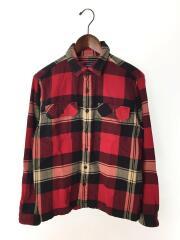 54130/オーガニックコットンフランネルシャツ/長袖シャツ/S/コットン/RED/チェック