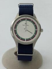 クォーツ腕時計/アナログ/ナイロン/WHT/NVY/R011481