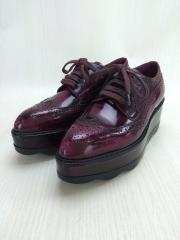 ドレスシューズ/36/BRD/厚底/ウイングチップ/メダリオン/レディース/革靴