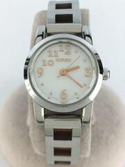 8N3065/1N01-0KK0/クォーツ腕時計/アナログ/WHT/SLV/腕時計/