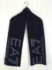マフラー/--/BLK/EA7/ロゴ/メンズ/グレー/