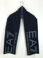 マフラー/--/BLK/EA7/ロゴ/黒/メンズ