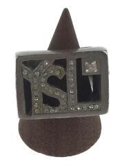 リング/--/17号/SLV/ラインストーン/YSL/ロゴ/カラーストーン/指輪
