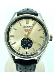 WV5111/CARRERA/自動巻腕時計・カレラ キャリバー6/ブルーレザー/シルバー