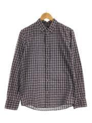 長袖シャツ/XS/RED/チェック/ボタンダウン/メンズ/BDシャツ