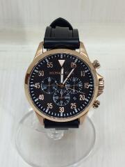 クォーツ腕時計/アナログ/ラバー/BLK// クロノグラフ GAGE   MK-8535