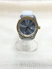 クォーツ腕時計/アナログ/レザー/WHT/DZ-5410